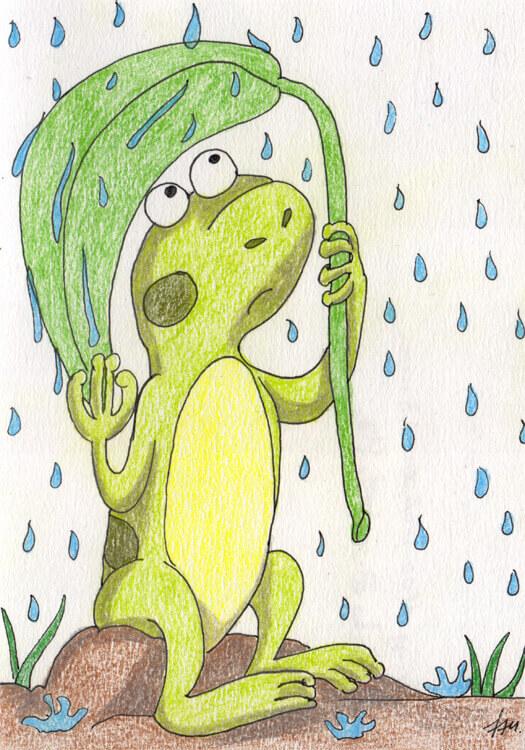 Buntstiftkolorierung 2: Regenfrosch
