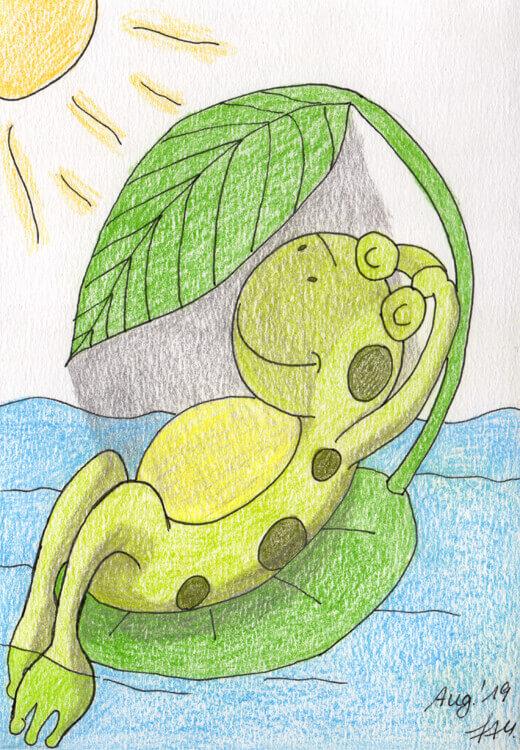 Buntstiftkolorierung 2: Sonnenfrosch