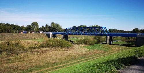 Fluss Fotovorlagen: Flusslandschaft neue Lippebrücke 1