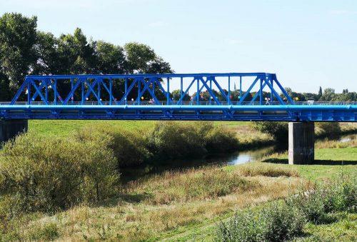 Fluss Fotovorlagen: Flusslandschaft neue Lippebrücke 2