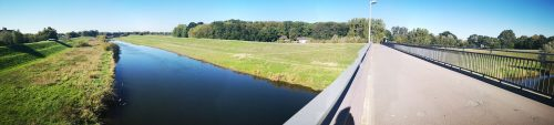 Lippebrücke im Panorama