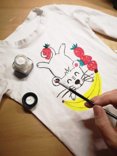 Textilmalerei mit Acryltextilfarbe