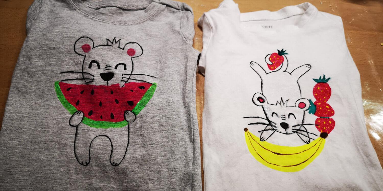 Bemalte Shirts: Textilmalerei mit Lieblingsmotiv - Titel