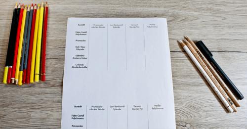 Buntstifte und Blender im Test