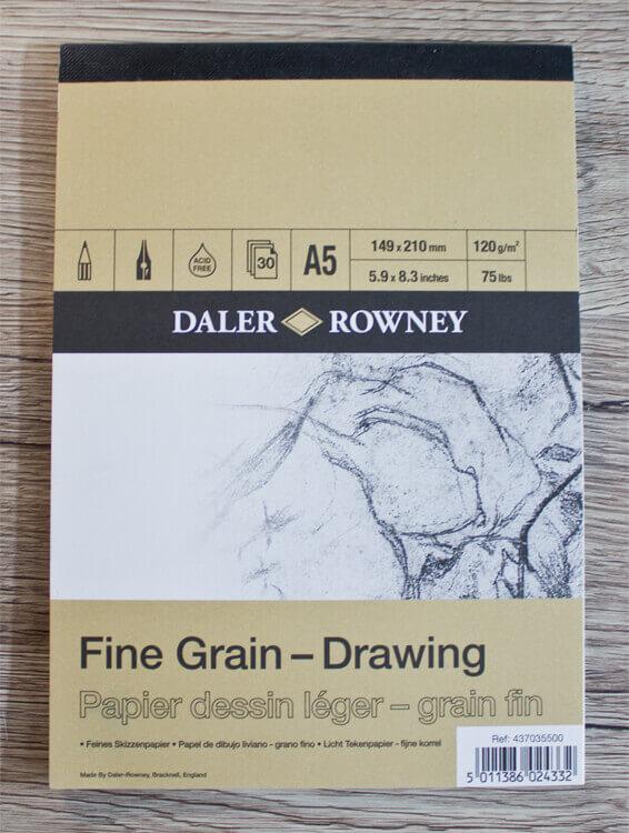 Daler Rowney Fine Grain Drawing Skizzenpapier A5