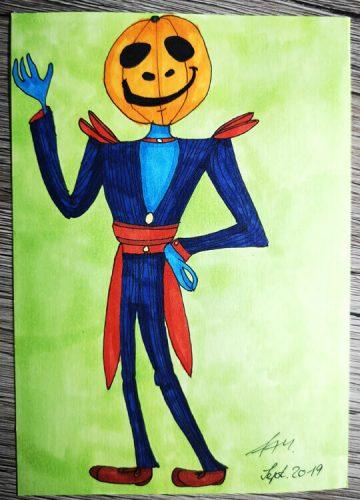 Halloween Figur zeichnen: Markerkolorierung 2