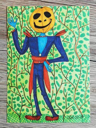 Halloween Figur zeichnen: Markerkolorierung 3