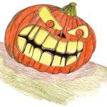 Halloween Kürbis zeichnen
