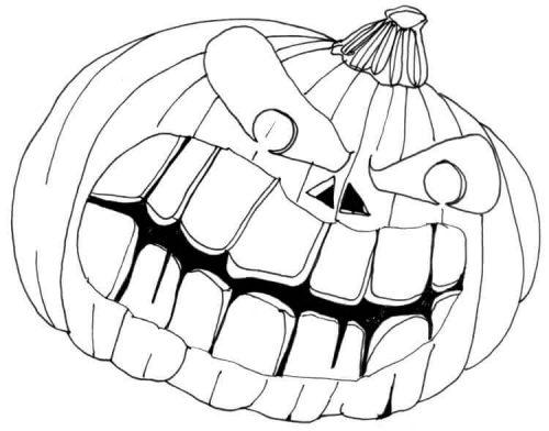Halloweenkürbis zeichnen: Finelinerkonturen