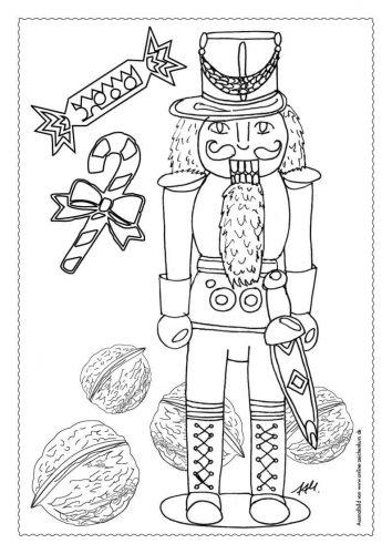 Adventskalender Ausmalbild: Nussknacker - Türchen 3