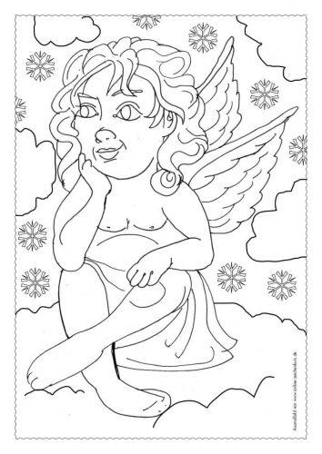 Adventskalender Ausmalbild: Engel - Türchen 23