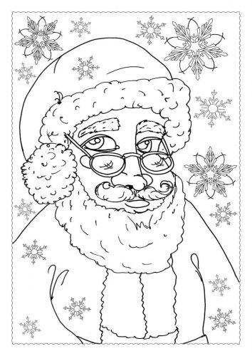 Adventskalender Ausmalbild: Weihnachtsmann - Türchen 20