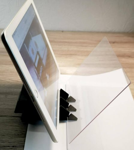 Tracing Pad mit Tablet oder Smartphone Stand 1