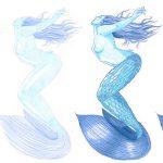 Malen mit zwei Farben Challenge (Meerjungfrau Juli '20)