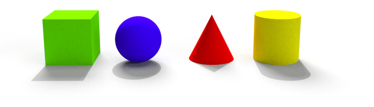 Perspektiven und Schatten bei Grundformen: Augenhöhe
