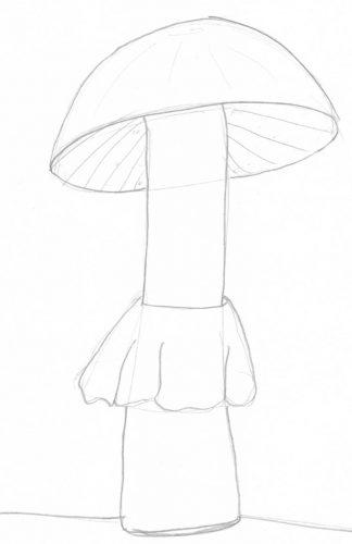 Pilze zeichnen: Beispiel 2