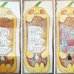 Halloween Klappkarte basteln und gestalten
