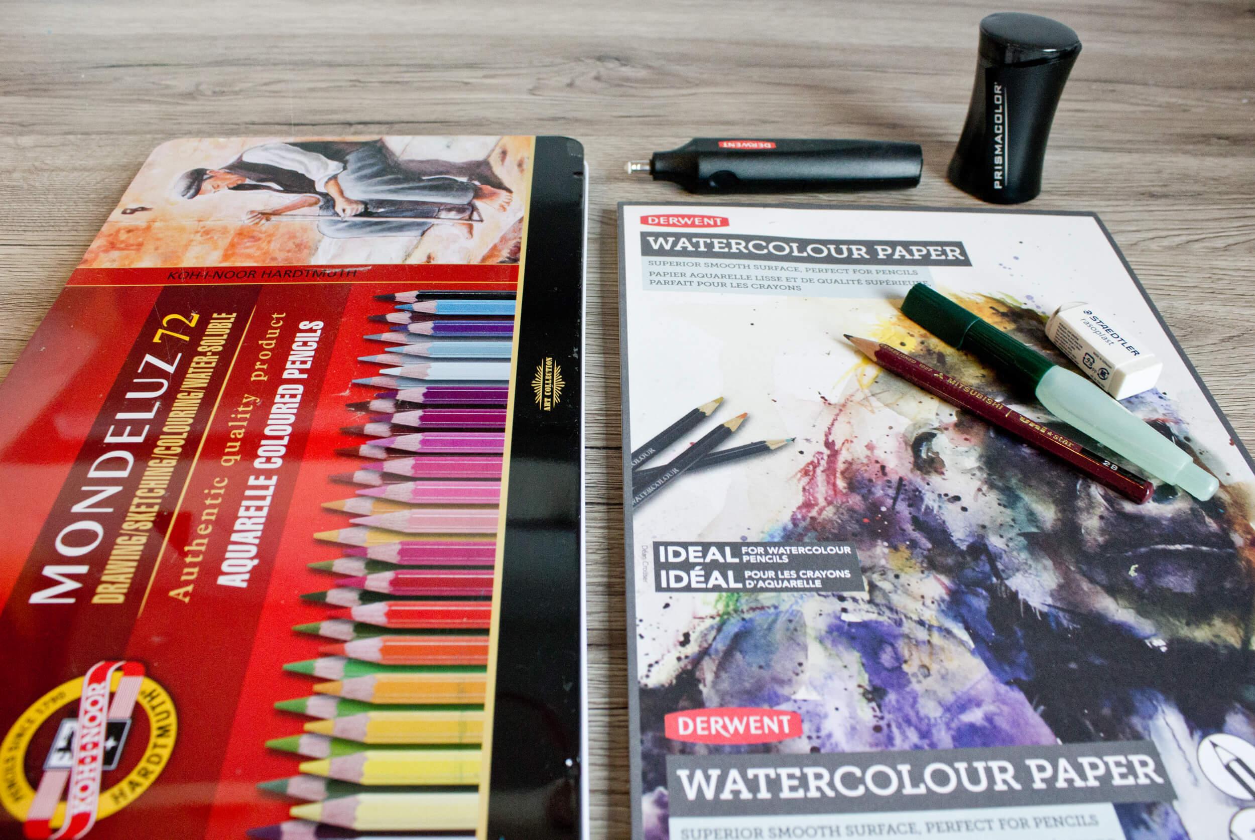 Zeichnen mit Aquarellbuntstift Einsteigerset