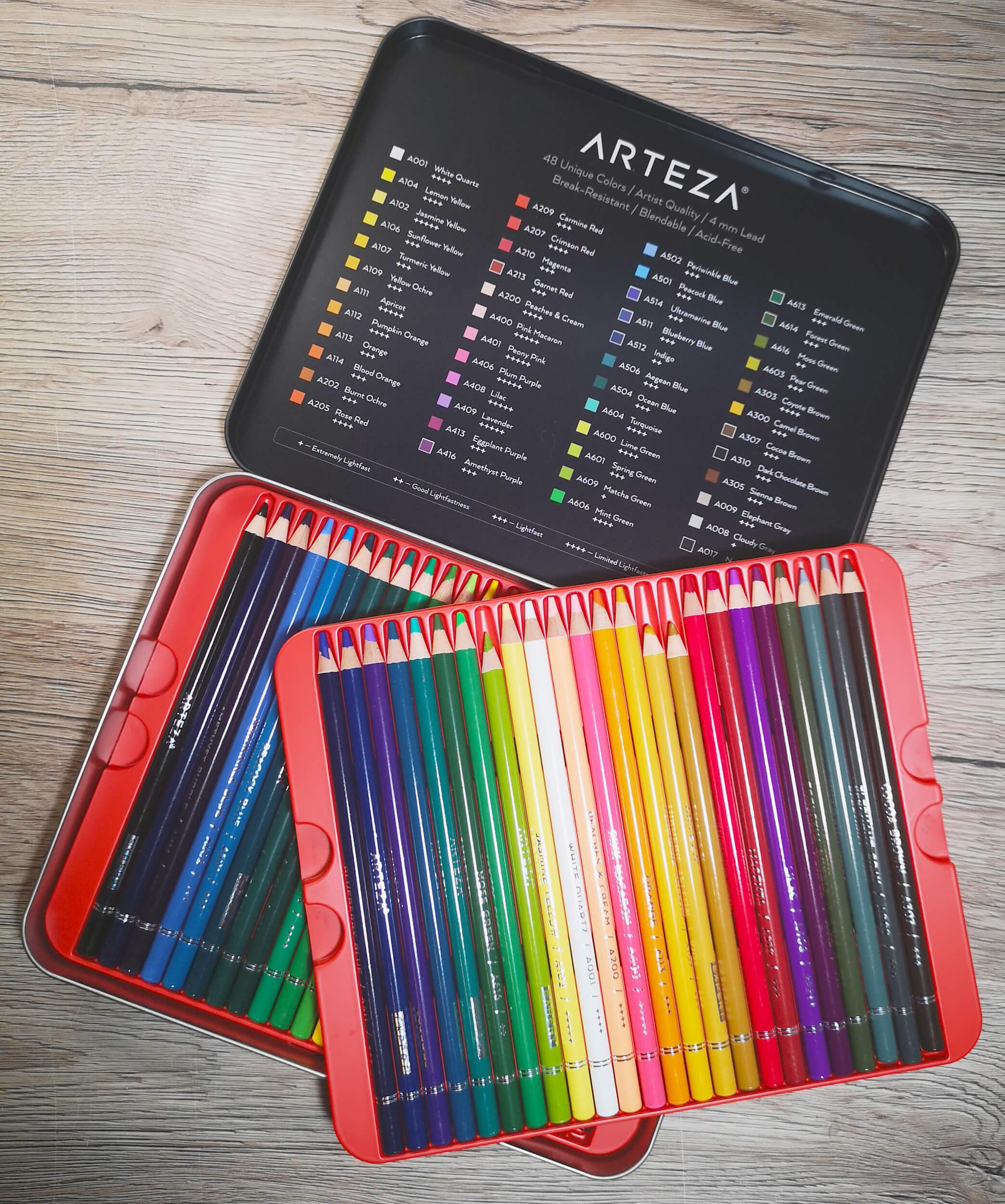 Review: Arteza Expert Colored Pencils