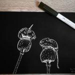 Mäuse in schwarz/weiß – Silhouettenbild zeichnen