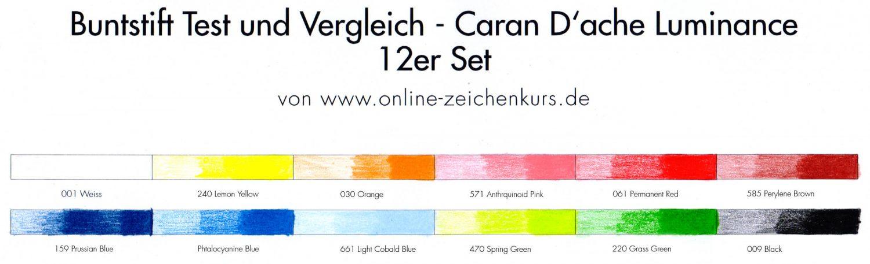 Farbtestt: Caran D'ache Luminance