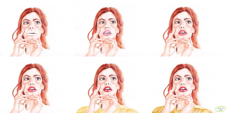 Portrait malen: Rothaarige Frau Schritte 7 bis 12