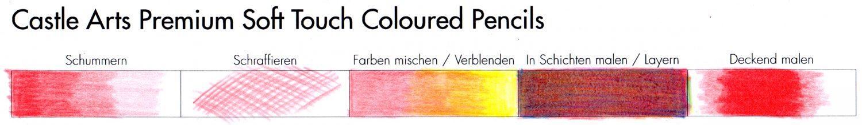Praxistest: Buntstifttechniken Castle Arts Premium Soft Touch Colored Pencils