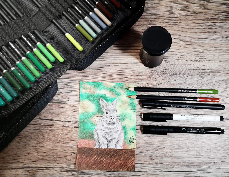 Graues Kaninchen zeichnen: Verwendete Materialien