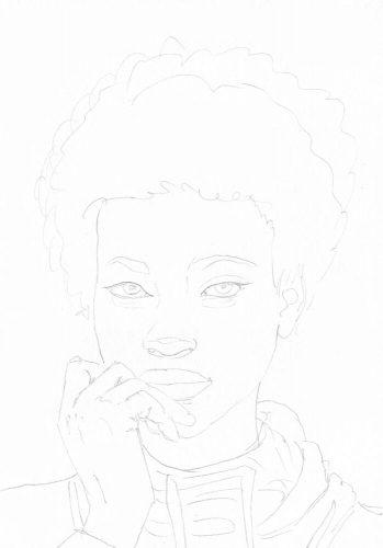 Portrait einer Frau zeichnen: Bleistiftskizze