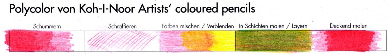 Praxistest: Buntstifttechniken Polycolor Buntstifte