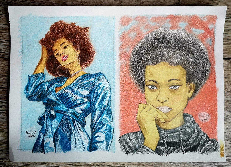 Polycolor Buntstifte: Portraits