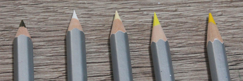 5 gespitzte Winkel - Buntstiftebeispiele vom Multisharpener T'GAAL